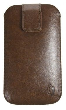 Pouzdro VIP Collection velikost HTC HD2 BROWN, 0032