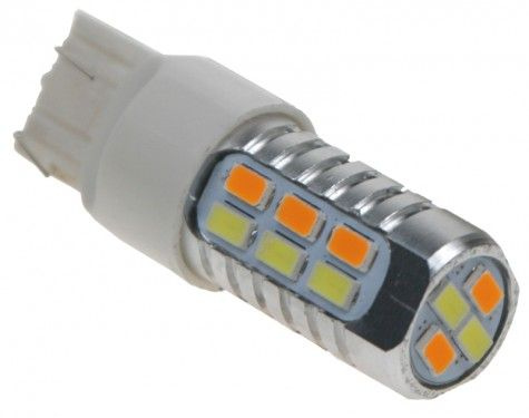 Žárovka LED T20 (7443) dual color, 12-24V, 22LED/5630SMD