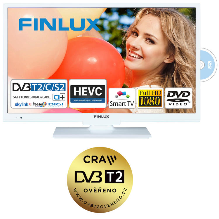 Finlux TV22FWDC5161 - T2 SAT DVD SMART HBBtv-
