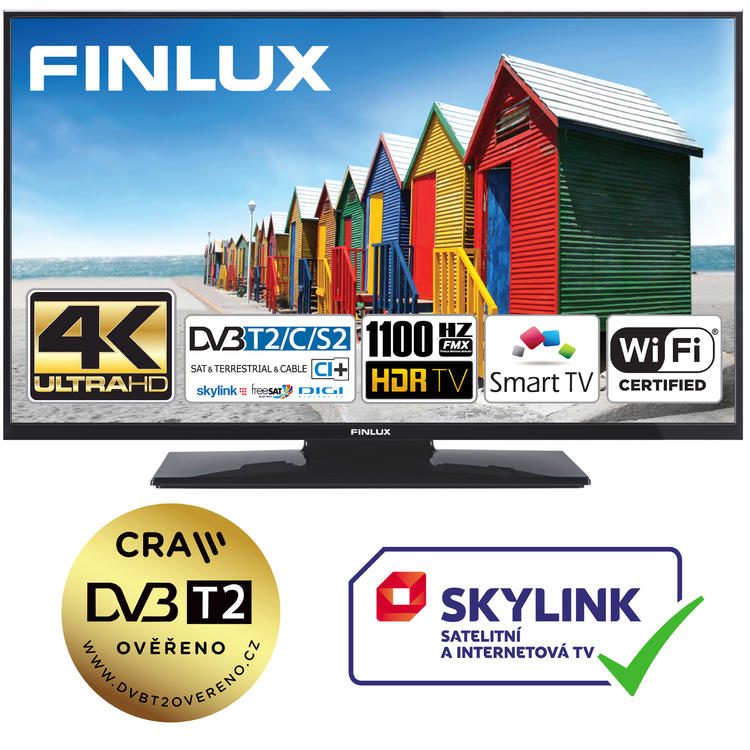 Finlux TV50FUD7060 - UHD SAT/ T2 SMART WIFI SKYLINK LIVE