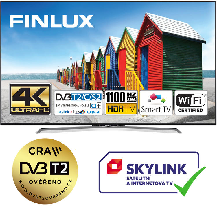 Finlux TV49FUE8160 - HDR UHD T2 SAT WIFI SKYLINK LIVE