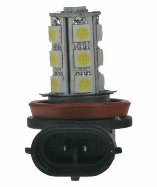 Žárovka LED 12V s paticí H11, 18LED/3SMD
