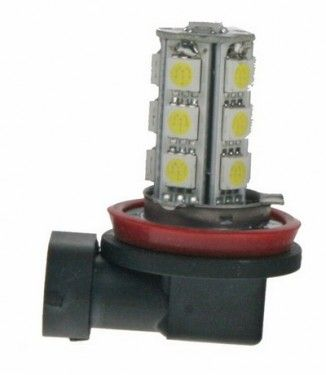 Žárovka LED 12V s paticí H8, 18LED/3SMD