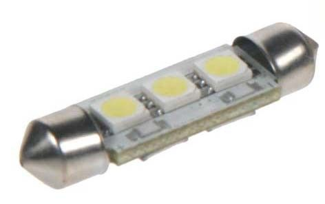 Žárovka LED 12V s paticí sufit (36mm), 3LED/3SMD