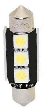 Žárovka LED 12V s paticí sufit (36mm), 3LED/3SMD s chladičem